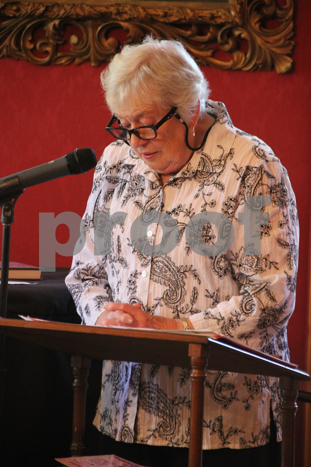 """On Sunday, October 2, 2016 the Vincent House in Fort Dodge held an event called """"Sassy Ladies of The West"""". Stories about ladies of the West were told by a guest speaker, to those in attendance. Afterward there were refreshments served. Pictured here is guest speaker, Bev Hinds."""