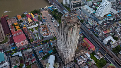 at the Sathorn Unique 'Ghost Tower', Yan Nawa, Bangkok, Thailand