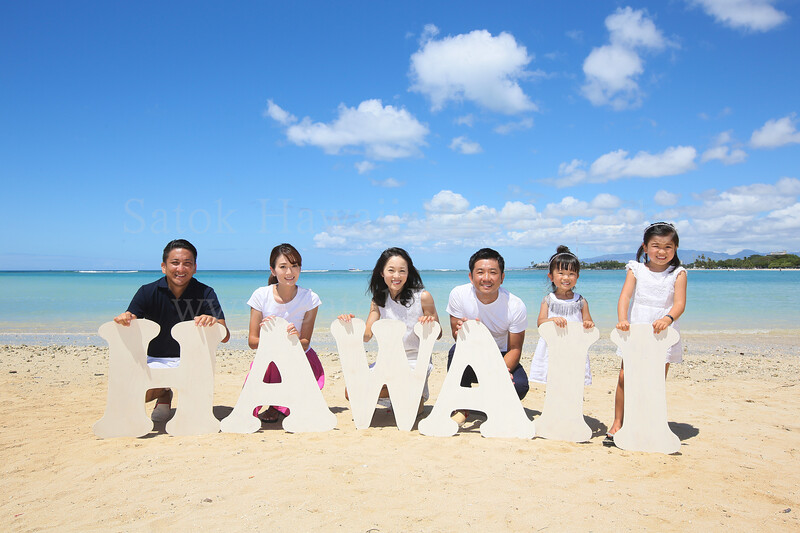 satok; hawaii; family; beach; magic island; waikiki; honolulu; oahu; family photo; サトック
