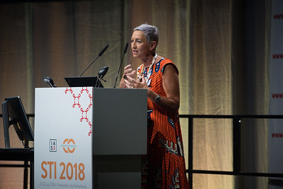22nd International AIDS Conference (AIDS 2018) Amsterdam, Netherlands   Copyright: Marcus Rose/IAS  Photo shows: STI 2018. Speaker: Linda-Gail Bekker (President IAS).