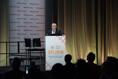 22nd International AIDS Conference (AIDS 2018) Amsterdam, Netherlands   Copyright: Marcus Rose/IAS  Photo shows: STI 2018. Speaker: Ken Mayer.