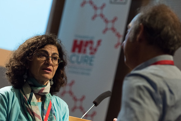 9th IAS Conference on HIV Science (IAS 2017) Paris, France. Copyright: Marcus Rose/IAS Image Shows: HIV Cure & Cancer Forum. Geneviève Almouzni, Institut Curie.