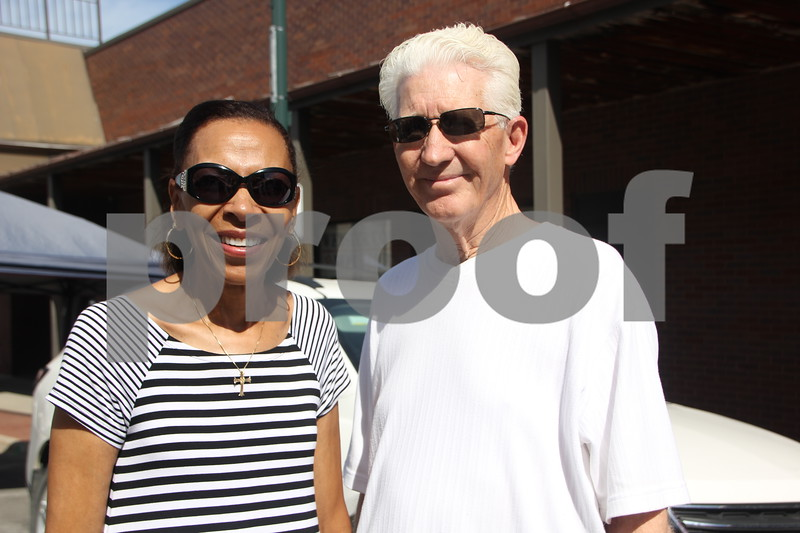 Market On Central took place on Saturday, July 9, 2016 in Fort Dodge. Pictured here is (left to right): Clarice and Brian Thompson, one of many who came to check out the event.
