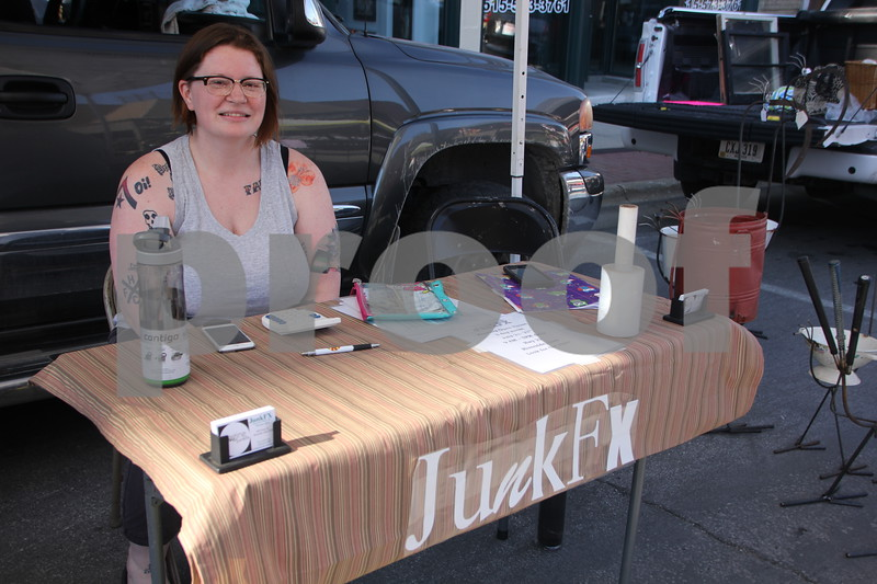 Market On Central took place on Saturday, July 9, 2016 in Fort Dodge. Seen here is: Jen Wood, one of several vendors at the event.