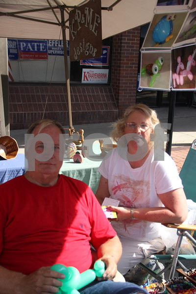 Market On Central took place on Saturday, July 9, 2016 in Fort Dodge. Pictured here is (left to right): Kevin and Julie Davis, one of many vendors at the event.