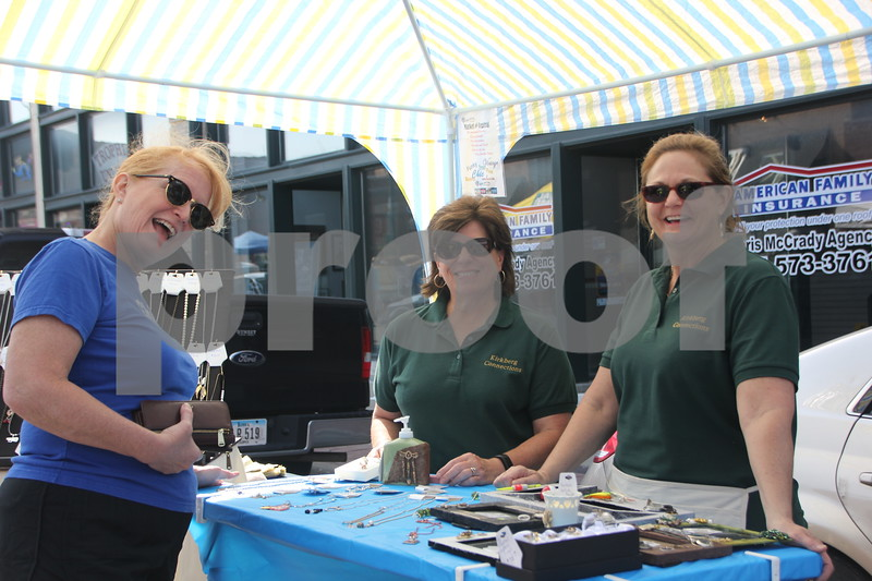 Saturday, June 11, 2016, Central Avenue in Fort Dodge held the Market On Central. Shown left to right is: Kristin Horick, Jan Moeller, and Cary Estlund .