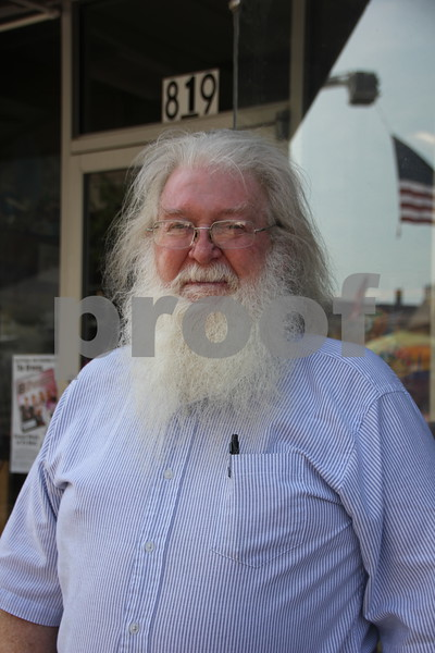 Saturday, June 11, 2016, Central Avenue in Fort Dodge held the Market On Central. Stopping for a picture is Gary Edgerton seen here. He checking  out everything available at the event.