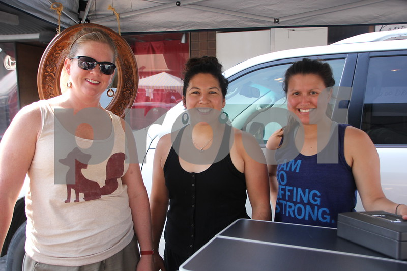 Saturday, June 11, 2016, Central Avenue in Fort Dodge held the Market On Central. Seen here left to right is: Lori Daniel, Christina Pruismann, and Danielle Coronado.