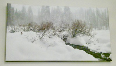 PHOTOGRAPH ON CANVAS IN THE LODGE DINING ROOM
