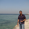 The Red Sea in Jeddah with my superb host, Ahsan