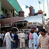 Saudi Arabia, Mecca Region, Jeddah, Steam Train Decoration In Front Of A Mall