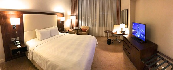 Well, it wasn't a suite but still pretty nice anyway. The next day I got them to upgrade me to a larger room.