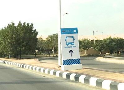 From the university I would catch a shuttle bus to the Ad Diriyah E-Prix racetrack.