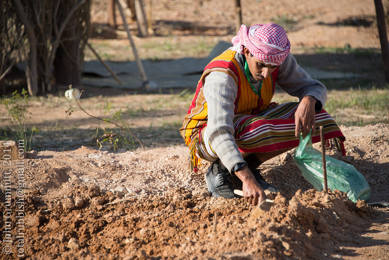 A farmer demonstrates Jazan traditional farming