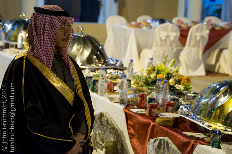 An official waits to receive the governor of Asir Province, Prince Faisal bin Khalid bin Abdul Aziz al Saud.