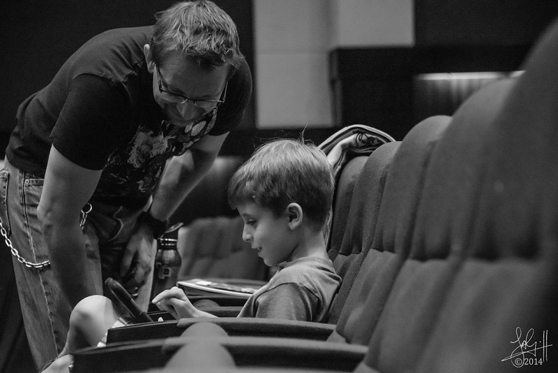 Dhahran Theatre Group rehearsal, father and son