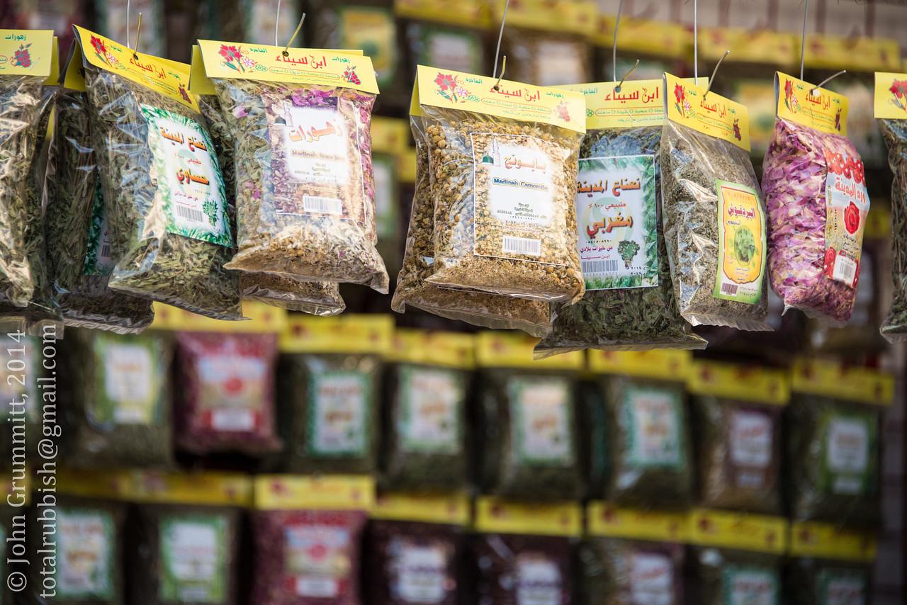 Various herbal teas