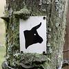 """Ochsentour"" path marking screwed on fence post"
