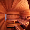 Sauna in Windsor, CO:<br /> *Western Red Cedar paneling horizontally<br /> *Standard benches<br /> *3 bench levels<br /> *Window<br /> *Custom heater guard & Foot rest<br /> *Standard backrests<br /> *Ropelighting under upper bench<br /> *Bucket shelf