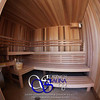Sauna in Albuquerque, NM (ADA):<br /> *Western Red Cedar vertically<br /> *3 bench levels with stool movable<br /> *Standard backrests<br /> *Standard benchskirt (doubles as a backrest for the lower ADA-bench)<br /> *Custom heater guard
