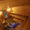 Sauna for the Air Force in Little Rock, AR (Jacksonville)<br /> *Vertical Hemlock paneling<br /> *Custom 3 bench levels<br /> *ADA-accessible <br /> *Custom footrest guard rail<br /> *Custom heater guard<br /> *Custom casing and crown molding<br /> *Standard backrests<br /> *Standard light fixtures