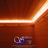 Sauna in Colorado Springs, CO:<br /> *Western Red Cedar paneling horizontally (over furring strips)<br /> *Standard benches<br /> *3 bench levels<br /> *Low-voltage strip lighting<br /> *Half-wall between benches and heater<br /> *Custom heater guard