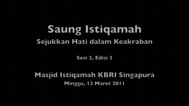 Saung Istiqomah Video March 2011 - 1