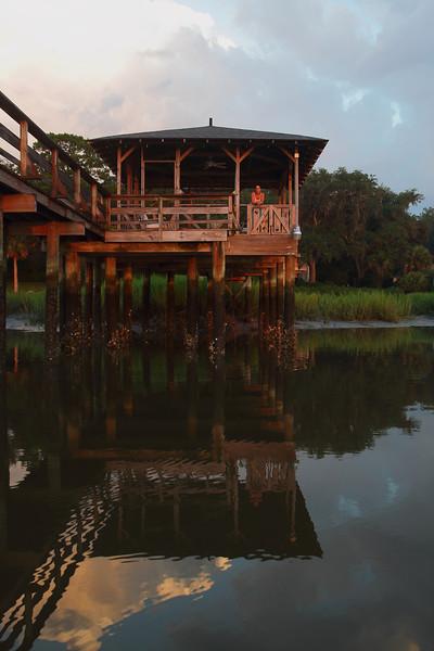 Dock house reflection