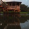Dock house reflection