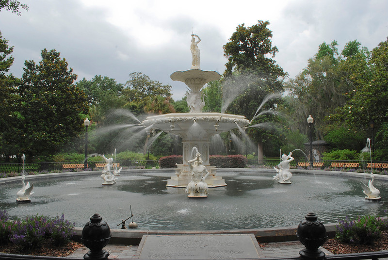 Forsyth Fountain - Forsyth Park Historic District