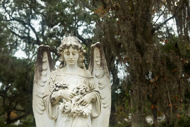 Angel at Bonaventure Cemetery Savannah Georgia
