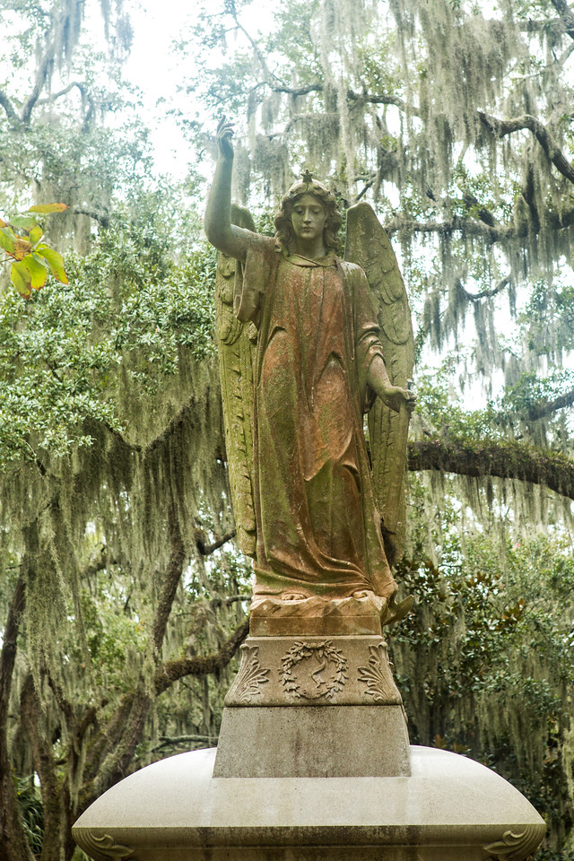 Angel at Bonaventure Cemetery Savannah Georgia