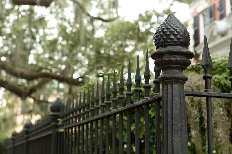 Old cast iron fence savannah georgia