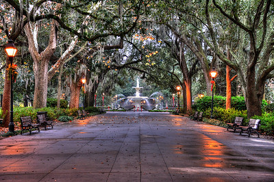 Forsyth Square Savannah Early Morning