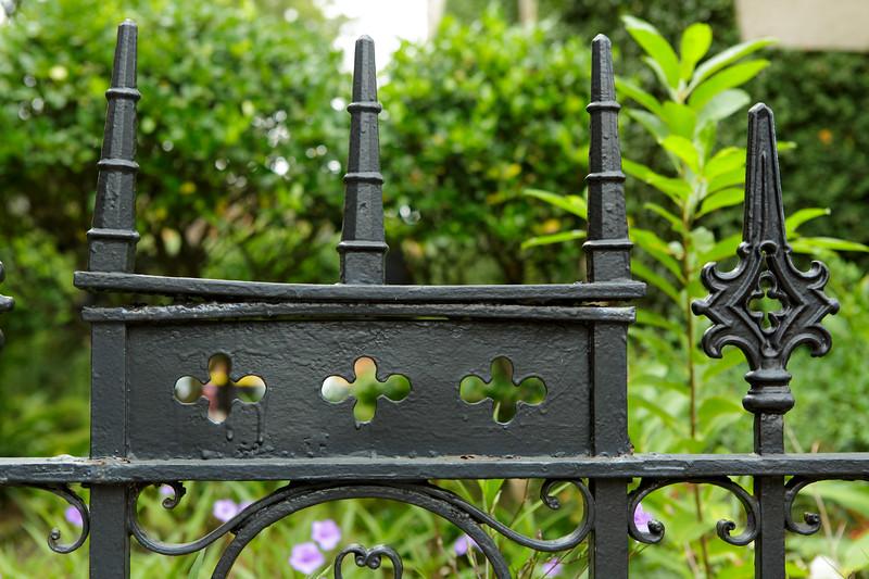 Black fence Savannah Georgia