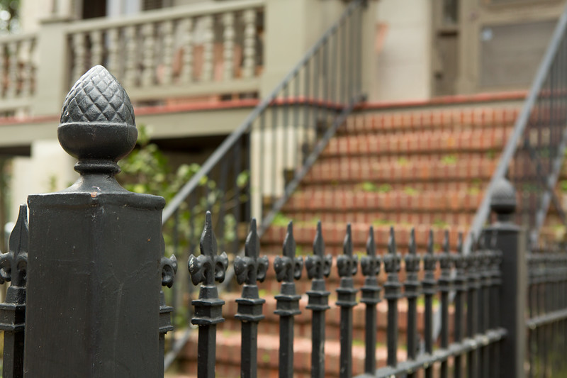 Fence and stairs Savannah Georgia