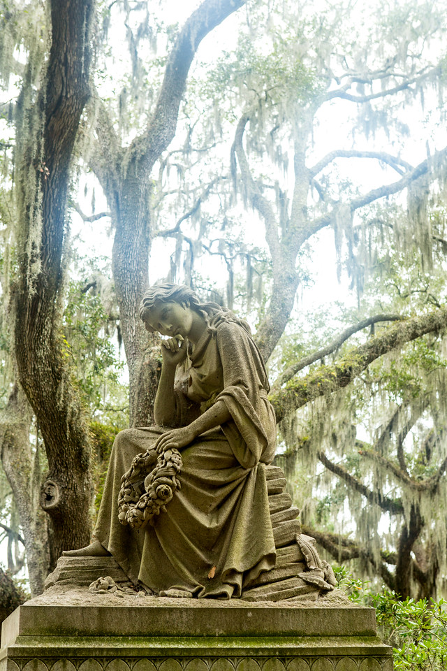 Statue at Bonaventure Cemetery Savannah Georgia