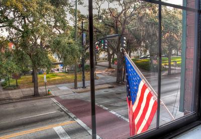 hotel-window-american-flag