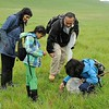 Prerna Jain, Parnavi Jain, Eddie Dunbar and Prakrit Jain. <br /> Save Mount Diablo's 2017 Bioblitz. <br /> Marsh Creek State Historic Park and Marsh Creek Reservoir. <br /> March 24 and 25, 2017