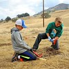 Experiential environmental service project work at SMD's Mangini Ranch property. <br /> Part of a Conservation Collaboration Agreement:<br /> Joaquin Moraga Intermediate School (JMIS), Bedell Frazier Investment Counseling, LLC (Bedell Frazier), and Save Mount Diablo (SMD).<br /> Participants: students, instructors and chaperones from JMIS, Bedell Frazier staff, SMD staff and volunteers, and Judy Adler with Judith F. Adler & Associates.<br /> Nov. 9, 2017