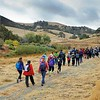 Hiking on SMD's Mangini Ranch property. <br /> Part of a Conservation Collaboration Agreement:<br /> Joaquin Moraga Intermediate School (JMIS), Bedell Frazier Investment Counseling, LLC (Bedell Frazier), and Save Mount Diablo (SMD).<br /> Participants: students, instructors and chaperones from JMIS, Bedell Frazier staff, SMD staff and volunteers, and Judy Adler with Judith F. Adler & Associates.<br /> Nov. 9, 2017