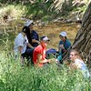 Lunchtime. <br /> SMD's Marsh Creek 7 property. <br /> Part of a Conservation Collaboration Agreement:<br /> Campolindo High School (CHS) and Save Mount Diablo (SMD).<br /> Participants: CHS Teacher Tren Kauzer, Campolindo Environmental Science students, and SMD staff and volunteers. <br /> April 23, 2018