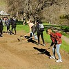 Experimental environmental  service project work at SMD's Marsh Creek 7 property. <br /> Part of a Conservation Collaboration Agreement:<br /> Pittsburg High School and Save Mount Diablo (SMD).<br /> Participants: students and instructor from Pittsburg High School, and SMD staff and volunteers.<br /> Feb. 10, 2018