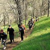 Hiking on SMD's Marsh Creek 7 property. <br /> Part of a Conservation Collaboration Agreement:<br /> Pittsburg High School and Save Mount Diablo (SMD).<br /> Participants: students and instructor from Pittsburg High School, and SMD staff and volunteers.<br /> Feb. 10, 2018