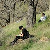 Reflecting on the meaning of nature on SMD's Marsh Creek 7 property. <br /> Part of a Conservation Collaboration Agreement:<br /> Pittsburg High School and Save Mount Diablo (SMD).<br /> Participants: students and instructor from Pittsburg High School, and SMD staff and volunteers.<br /> Feb. 10, 2018