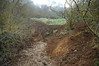 Water from spring and cow activity caused some major erosion on path up to south fenced spring.