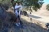 Cooper Ogden tweaks cameras at the time-lapse site.
