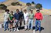 The Friday morning volunteer set-up crew: Dave, Julia, Kirk, Brad, Giselle, Burt, Lance.