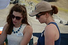 Amanda Bucknam and Christine Chestnut consult.