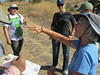 Lesley talks about finer points of seed collection.